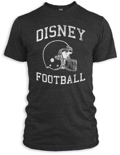 Vintage Distressed Disney Football Tri-Blend T-Shirt, Black, M