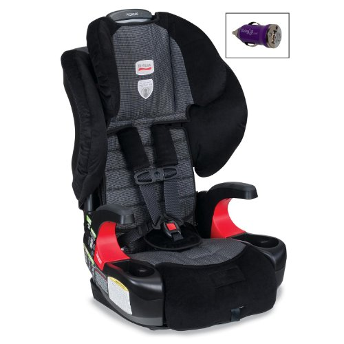 Britax Pioneer 70 Booster Car Seat And Free Mini Auto Usb Adapter, Onyx