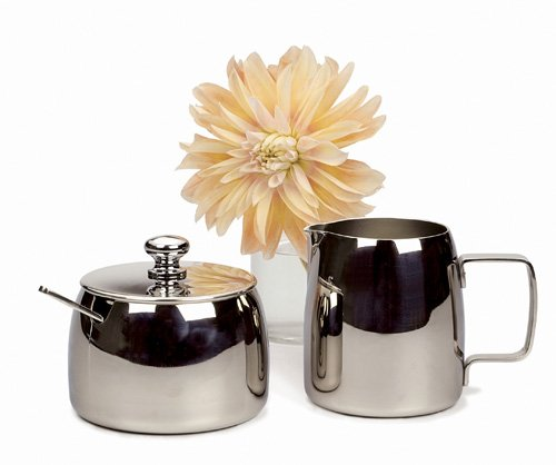 Rsvp endurance stainless steel cream pitcher and sugar for Cream kitchen set