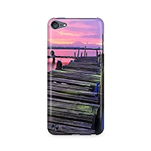 Motivatebox - Beautiful Rustic Bridge With Purple Sky Apple Ipod Touch 6th Generation cover - Matte Polycarbonate 3D Hard case Mobile Cell Phone Protective BACK CASE COVER. Hard Shockproof Scratch-Proof Accessories
