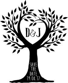 personalizzato-timbro-di-nozze-salvare-la-data-albero