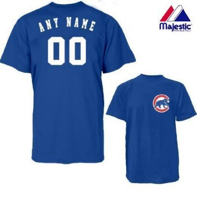Chicago Cubs Personalized Custom (Add Name & Number) ADULT MEDIUM 100% Cotton T-Shirt Replica Major League Baseball Jersey (Customize Baseball Jersey compare prices)