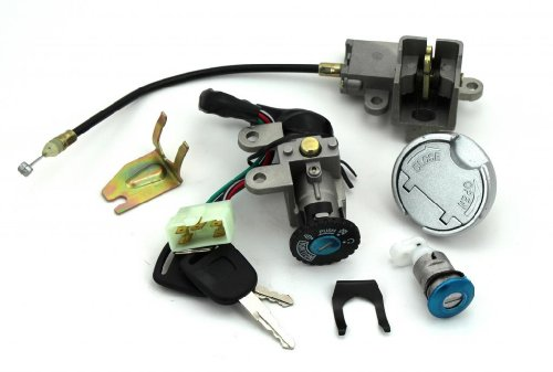 Scooter Ignition Switch Key Set 49 50 cc TaoTao Peace Roketa Jonway NST Tank Gy6 (Moped Parts compare prices)