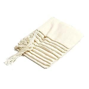 Bouquet Garni Mesh Cotton Self Closing Bags Self Closing, Set of 10