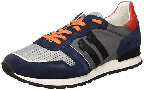Bikkembergs 641192 - Zapatillas Hombre, Multicolor (Blue/Grey/Orange), 42
