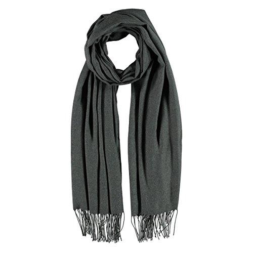 XL Pashmina Sciarpa Frange Passigatti sciarpa da uomo sciarpa viscosa Taglia unica - antracite