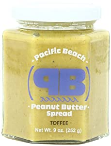 Pacific Beach Peanut Butter Flavored Spread, Toffee, 9 Ounce