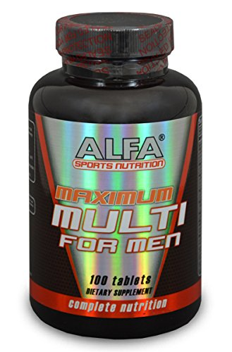 Maximum Multi For Men 100 Tablets. Complete Sports Nutrition. Vitamins. Minerals. Amino Acids. Fatty Acids. Plus Male Herbal Blend