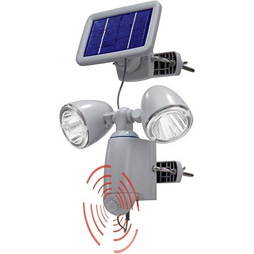 Spot solaire avec détecteur de mouvements Renkforce Duo 2 W blanc froid gris
