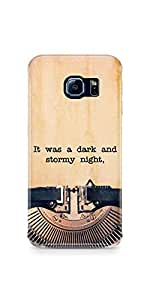 Casenation Vintage Typewriter Samsung Galaxy S6 Edge Glossy Case