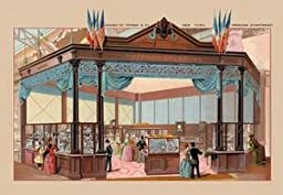 30 x 20 Stretched Canvas Poster Exhibit of Tiffany and Co. at the Paris Exhibition, 1889