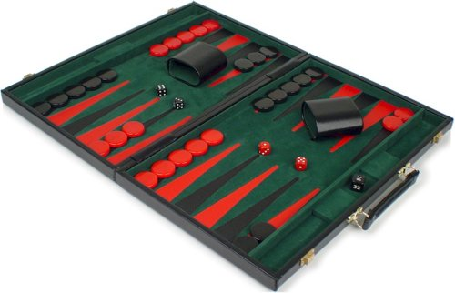 Black Vinyl Backgammon Set - Large Attache - Buy Black Vinyl Backgammon Set - Large Attache - Purchase Black Vinyl Backgammon Set - Large Attache (thechessstore, Toys & Games,Categories,Games,Board Games,Checkers Chess & Backgammon)