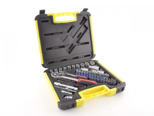 Socket Set Set 1/4 + 1/2 Inch 42-Piece
