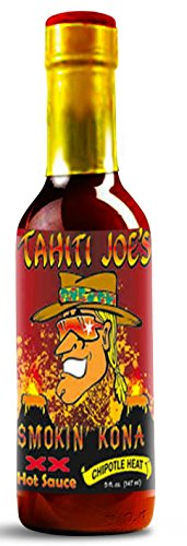 Tahiti Joe's Smokin' Kona XX Hot Sauce (Chipotle Heat) | Made with Louisiana style pepper sauce Fresh Carrots Habanero peppers Chipotle Peppers and other Spices (5oz) (Louisiana Hot Sauce Chipotle compare prices)