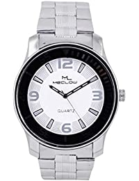 Latest Design Silver Metal Strap Watch, Round Black And White Dial Analog Watch For Men's/Boys Classic Fashionable...