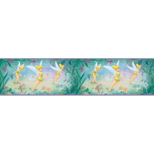 Blue Mountain Wallcoverings DS026271 Very Fairy Tinker Bell 5-Inch Self-Stick Wall Border - 1