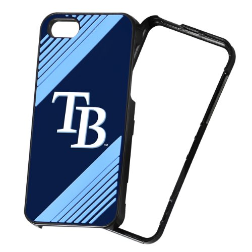 Forever Collectibles MLB 2-Piece Snap-On iPhone 5/5S Polycarbonate Case - Retail Packaging - Tampa Bay Rays