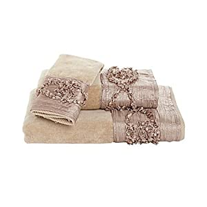 Croscill Jasmin Hand Towel, 16 by 26-Inch, Champagne