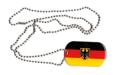 Dog Tag Deutschland Adler Erkennungsmarke 30 x 50 mm Fahne Flagge