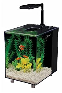 Penn Plax Prism Aquarium Kit, Black