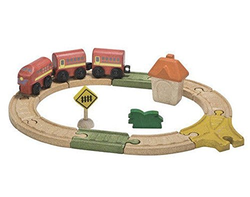 Plan Toys City Road and Rail Oval Railway