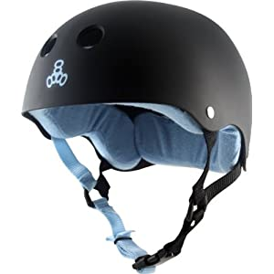 Triple Eight Helmet Black.rubber Carolina Small Eee Skate Helmets