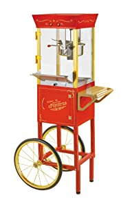 """Nostalgia Electrics CCP510 53"""" Tall Vintage Collection 6-Ounce Kettle Commercial Popcorn Cart"""