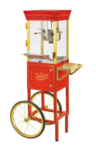 "Nostalgia Electrics Ccp510 Vintage Collection 53"" Old Fashioned Movie Time Popcorn Cart"