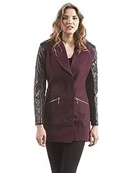 Shuffle Women's Jacket (1021525601_Burgandy_Large)