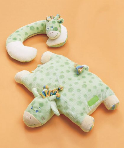 Baby Neck Pillow and Pillow ChumTM Sets (Green Giraffe)