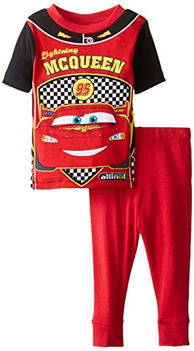 Disney Baby Boys' Cars Mcqueen Racing Uniform 2 piece Pajama Set, Red, 12 Months