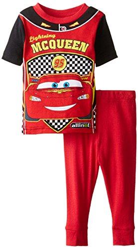 Disney Baby Boys' Cars Mcqueen Racing Uniform 2 piece Pajama Set, Red, 12 Months