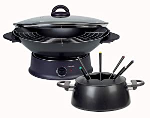 tefal ref wk300010 multi wok fondue cuisine maison. Black Bedroom Furniture Sets. Home Design Ideas