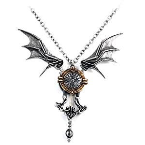 Icarus Ex Machina Alchemy Gothic Necklace
