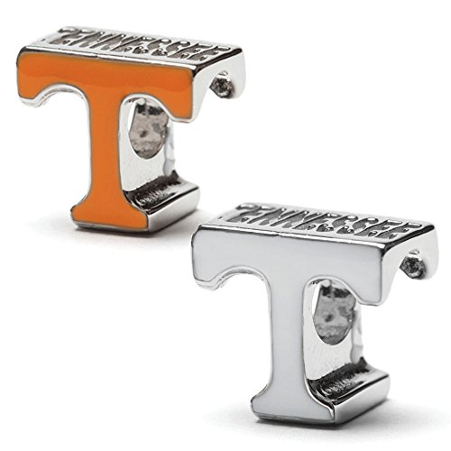 Tennessee T Orange and White Bead Charm - Set of Two - Fits Pandora