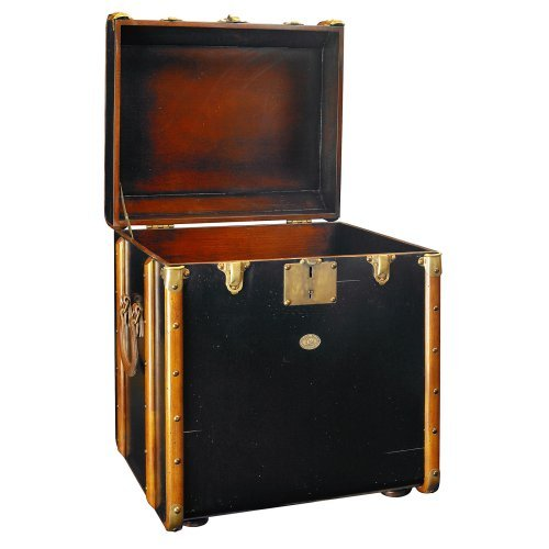 Cheap Authentic Models Stateroom Trunk End Table – Black (MF079B)