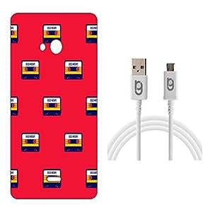 Designer Hard Back Case for Microsoft Lumia 540 with 1.5m Micro USB Cable
