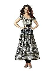 Khazana Women's Unstitched Dress Material (khazana-kag-fresh-10004_Black_Free Size)