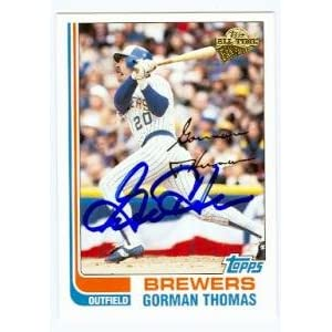 Gorman Thomas autographed Baseball Card (Milwaukee Brewers) 2004 All Time Fan Favorites #135