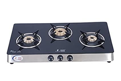 Glass Gas Cook Top Sleek Deluxe (3 Burner)