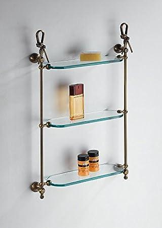 Suspendu en Verre H.65cm. L.45cm. p.15cm.Accessoires wC salle de bain Produit italien style classique