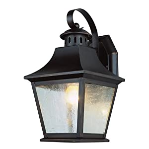 Click to buy Outdoor Wall Lighting: Trans Globe Lighting 4871 AN 11-Inch 1-Light Outdoor Small Wall Lantern, Antique Nickel from Amazon!