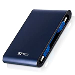 Silicon Power 1TB Rugged Armor A80 IEC 529 IPX7 Shockproof / Waterproof 2.5-Inch USB 3.0 Military Grade External Portable Hard Drive by Silicon Power