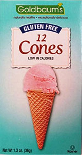 Goldbaums Ice Cream Cones, 12 Cones, Gluten Free, 1.3-Ounce (Pack of 6)