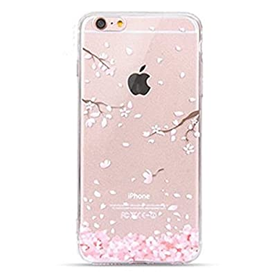 Urberry Iphone 7 Case, New Arrived 4.7 inch Iphone 7 Case, 3d Cherry Leaf Falling Print Case with a Screen Protector