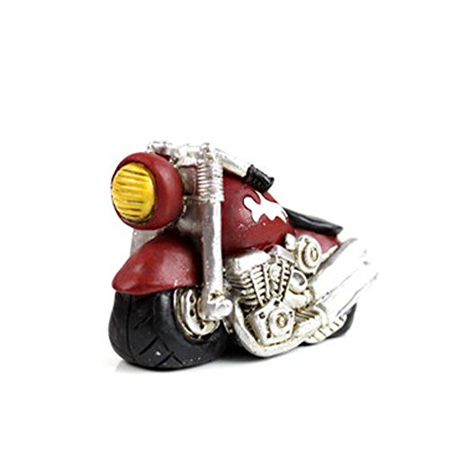 Creative Gifts Resinous Small Ornaments Vintage Motorcycle Model(Red 6.5cm)
