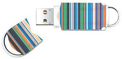 . Integral Xpression USB Flash Drive Compact 4GB Stripes Motif Ref INFD4GBXPRSTR from Integral