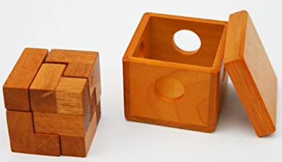Toys of Wood Oxford Small Wooden Soma Cube Puzzle Family Game - 3D Brainteaser Puzzle