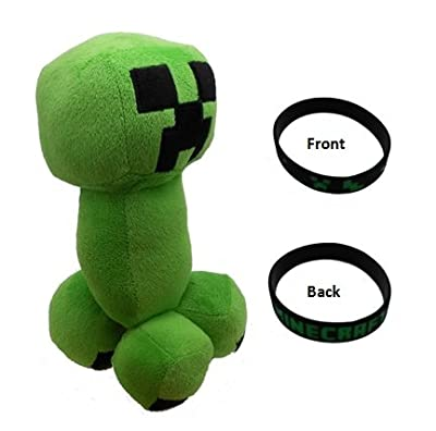 Minecraft Creeper 115 Plush Doll Toy With Bonus Black Bracelet from Minecraft