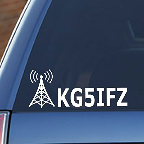 Ham Radio - Amateur Radio Callsign Antenna Window Decal (Ham Radio Decal compare prices)